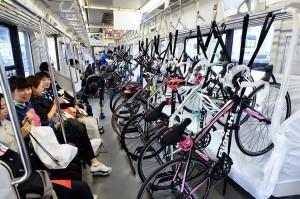 treno, bicicletta